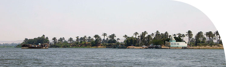 The west bank of the Nile near El-Bersha.