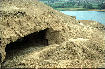 An underground quarry near Sheikh Said, dating to much later than the Amarna Period