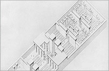Reconstruction of the rear part of the Long Temple, by the EES architect Ralph Lavers