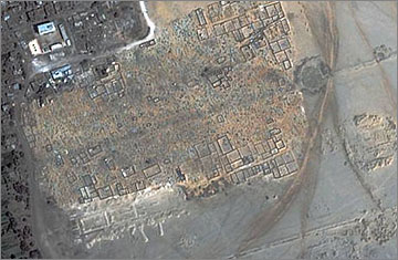 Quickbird satellite image of the Great Aten Temple, taken in 2006