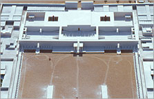 The great court of the State Apartments of the Great Palace, reconstructed as a model