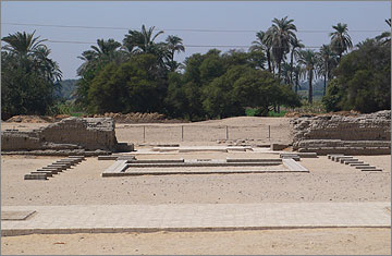 Front court of the Small Aten Temple, viewed to the west