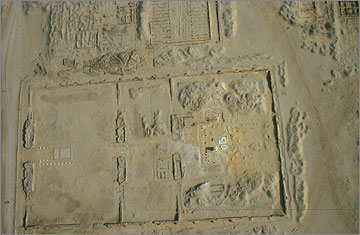 Aerial photograph of the Small Aten Temple, 1992