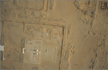 Aerial photograph of the Sanctuary in the Small Aten Temple, 2004