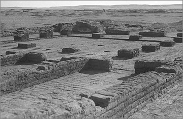 Building R42.9 of the 'Military and Police Quarters', after excavation (1936), viewed towards the south-east.