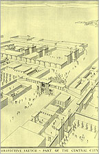 Reconstruction of the Central City by Ralph Lavers (architect for the EES expedition) made around 1935