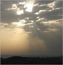 Sunrays over Amarna