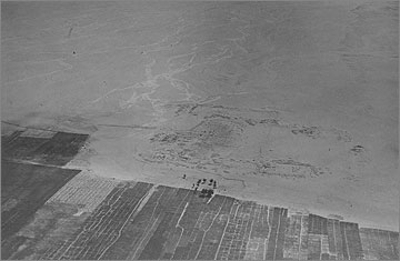 Aerial photograph of the site of Maru-Aten taken on 10 March 1932