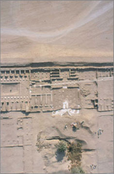 Aerial photograph from a tethered balloon of the rear (eastern) part of the North Palace