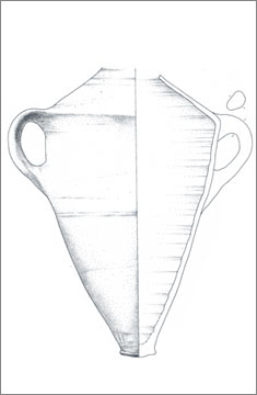 (Fig.30) 'Carinated shoulder' Group 2 Canaanite amphora from Amarna. Scale 1:4.