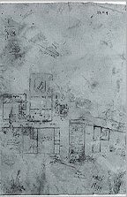 The Wilkinson plan of Amarna made in the 1820s. The original is in the Bodleian Library, Oxford