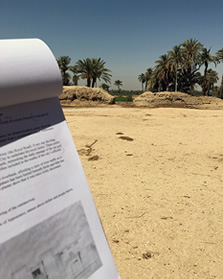 The first steps towards developing a set of new Arabic-English information panels for the archaeological site.