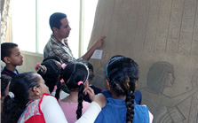 The Amarna Visitor Centre has a range of teaching resources and is regularly visited by local school groups.